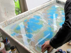 Art of Paper Marbling - 1st combing