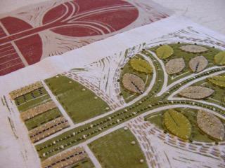 Creating Embellished Lino Prints On Fabric