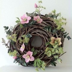 Spring Easter Floral Wreath